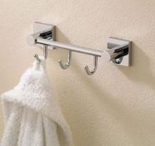 Valsan 67613UB Braga Triple Prong Robe Bathroom Hook - Unlacquered Brass