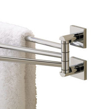 "Valsan 67670UB Braga 17 5/16"" Adjustable Swivel Arm Towel Bar - Rack - Unlacquered Brass"