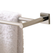 "Valsan 67676UB Braga 23 5/8"" Double Towel Bar - Rack - Unlacquered Brass"