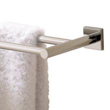 "Valsan 67676UB Braga 23 5/8"" Double Towel Bar - Rack - Unlacquered Brass"