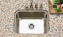 "Houzer Eston STS-1300-1 21"" x 15 3/4"" One Bowl Kitchen Sink - Stainless Steel"