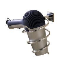 Valsan 67693UB Braga Hair Dryer Holder - Wall Mounted - Unlacquered Brass