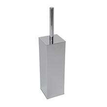 Valsan 67697UB Braga Wall Mounted Square Toilet Brush Holder - Unlacquered Brass