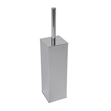Valsan 67699UB Braga Square Base Freestanding Toilet Brush Holder - Unlacquered Brass