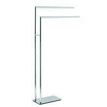 Valsan PE899UB Pombo Etoile Freestanding Towel Bar - Unlacquered Brass