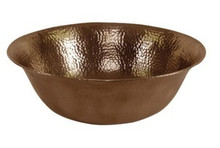 "Hamat SANTA MARGARITA 16"" Hammered Vessel Sink - Antique Copper"