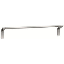 "Valsan PS146030UB Sensis Flat Curved Towel Rail / Bar 12"" - Unlacquered Brass"