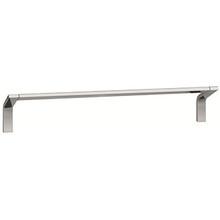 "Valsan PS146045UB Sensis Flat Curved Towel Rail / Bar 18"" - Unlacquered Brass"