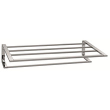 "Valsan PS154MB Sensis Towel Shelf & Rack / Bar 20 1/2"" - Matte Black"