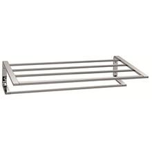 "Valsan PS154MB Sensis Towel Shelf & Rack / Bar 20 1/2"" - Matte Black"