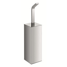 Valsan PS167UB Sensis Freestanding Square Toilet Brush & Holder - Unlacquered Brass