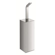 Valsan PS167UB Sensis Freestanding Square Toilet Brush & Holder - Unlacquered Brass