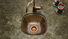 "Hamat BRECKENRIDGE BAR 17 7/8"" x 17 7/8"" Flat Lip Bar/Prep Sink - Antique Copper"