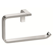 Valsan PS241UB Sensis Flat Curved Open Towel Ring - Unlacquered Brass
