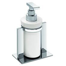 Valsan PS631UB Pombo Sensis Freestanding Liquid Soap Dispenser - Unlacquered Brass