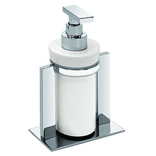 Valsan PS631UB Pombo Sensis Freestanding Liquid Soap Dispenser - Unlacquered Brass