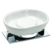 Valsan PS635UB Pombo Sensis Freestanding Soap Dish Holder - Unlacquered Brass