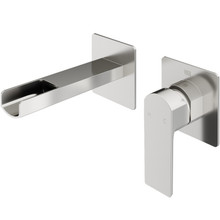 VIGO VG05005BN Atticus Single Handle Wall Mount Bathroom Faucet In Brushed Nickel