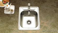 "Hamat REVIVE 17"" X 22"" Single Bowl Kitchen Sink - Stainless Steel"