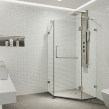 VIGO VG6062BNCL40 Piedmont Frameless Neo-Angle Shower Enclosure