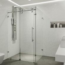 VIGO VG6051CHCL60 Winslow Frameless Sliding Door Shower Enclosure
