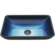 VIGO VG07068 Rectangular Turquoise Water Glass Vessel Bathroom Sink