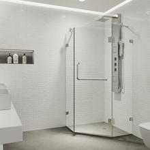 VIGO VG6062CHCL38 Piedmont Frameless Neo-Angle Shower Enclosure