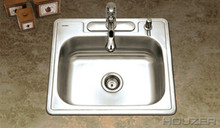 "Hamat 25"" X 22"" X 8"" One Bowl Kitchen Sink - Three Holes - Stainless Steel"