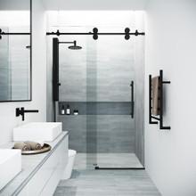 VIGO VG6041MBCL7274 Elan Adjustable Frameless Sliding Shower Door