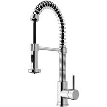 Vigo VG02001CH Modern Single Handle Pull out Spiral Spring Spout Kitchen Faucet - Chrome