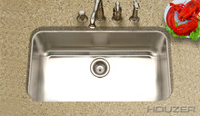 "Hamat GOURMET 31 1/2"" x 17 7/8"" Undermount Kitchen Sink & Strainer - Stainless Steel"