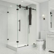 VIGO VG6051MBCL48WR Winslow Frameless Sliding Door Shower Enclosure With Right Drain Base