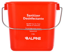 Alpine 486-3-RED 3 Qt. Red Sanitizing Pail - Bucket