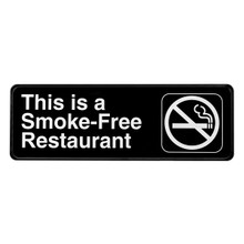 Alpine This is a Smoke-Free Restaurant Sign, 3 in. x 9 in.