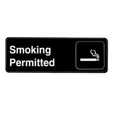 Alpine Smoking Permitted Sign, 3 in. x 9 in.