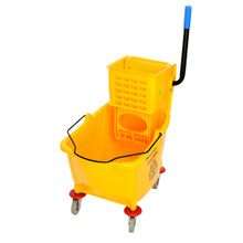 Alpine 462 Industries Mop Bucket & Side Wringer Combo - Yellow