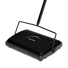 Alpine 469-BLK  Triple Brush Floor and Carpet Sweeper - Black
