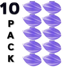 Alpine 4222-KG Air Freshener Clip with Kiwi Grapefruit Scent (10-Pack) - Light Purple