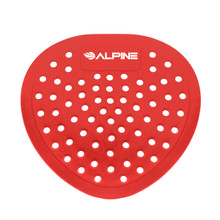 Alpine 4112-CHERRY Flat Urinal Screen, Cherry, 10 Pack - Red