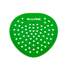 Alpine 4112-GA Flat Urinal Screen, Green Apple, 10 Pack - Green