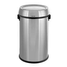 Alpine 470-65L-1 Brushed Stainless Steel 17-Gallon Trash Can with Swing Lid