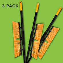 "Alpine 460-18-3-3 18"" Rough-Surface Push Broom, Pack of 3 - Black/Yellow"