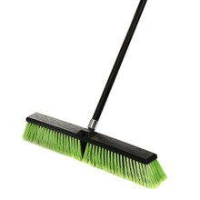 "Alpine 460-24-1-3 24"" Multi-Surface Push Broom, Pack of 3 - Black/Green"
