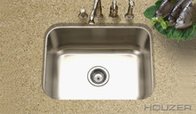 "Hamat CLASSIC 23 3/16"" X 17-15/16"" Undermount One Bowl Kitchen Sink & Strainer - Stainless Steel"