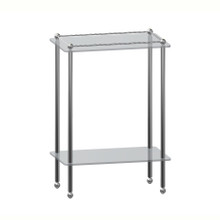 Valsan 66306CR Kingston Chrome Freestanding Traditional Two Tier Shelf Unit with Feet