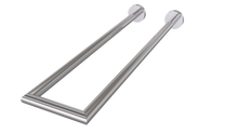 Valsan 67577ES Porto Satin Nickel Double Perpendicular Towel Rail