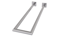 Valsan 67677ES Braga Satin Nickel Double Perpendicular Towel Rail