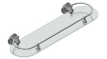 Valsan 69365NI Olympia Polished Nickel Glass Shelf with Gallery