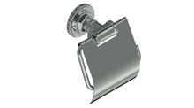 Valsan PI120PV Industrial Polished Brass Toilet Paper Holder with Lid