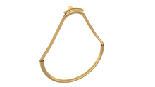 Valsan PL141GD Luxis 24K Gold Towel Ring